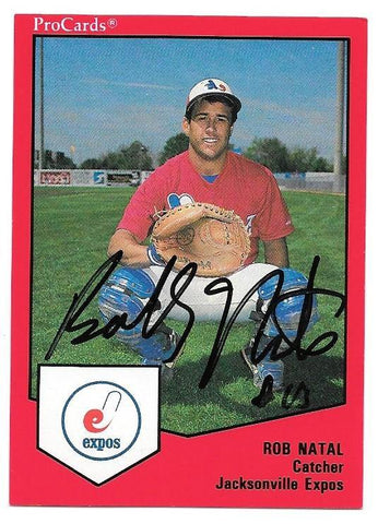 Rob Natal Signed 1989 ProCards Baseball Card