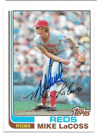 Mike Lacoss Signed 1982 Topps Baseball Card - Cincinnati Reds
