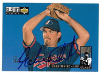 Gabe White Signed 1994 Collector's Choice Baseball Card - Montreal Expos