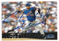 Scott Strickland Signed 1998 Fleer Tradition Baseball Card - Montreal Expos