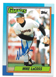 Mike Lacoss Signed 1990 Topps Baseball Card - San Francisco Giants