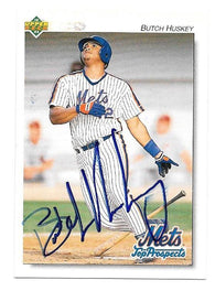 Butch Huskey Signed 1992 Upper Deck Minors Baseball Card - New York Mets