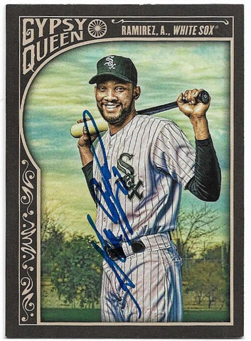 Alexei Ramirez Signed 2015 Gypsy Queen Baseball Card - Chicago White Sox