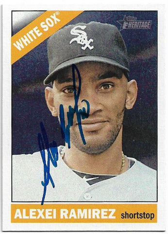 Alexei Ramirez Signed 2015 Topps Heritage Baseball Card - Chicago White Sox