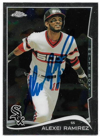Alexei Ramirez Signed 2014 Topps Chrome Baseball Card - Chicago White Sox