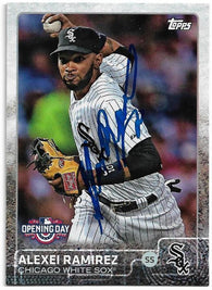 Alexei Ramirez Signed 2015 Topps Baseball Card - Chicago White Sox