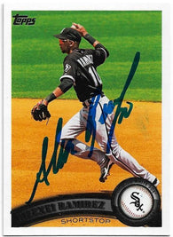 Alexei Ramirez Signed 2011 Topps Baseball Card - Chicago White Sox