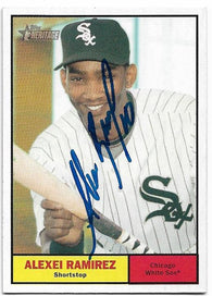 Alexei Ramirez Signed 2010 Topps Heritage Baseball Card - Chicago White Sox