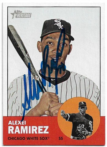Alexei Ramirez Signed 2012 Topps Heritage Baseball Card - Chicago White Sox