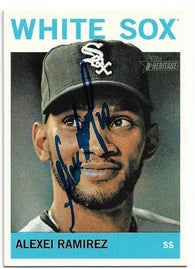 Alexei Ramirez Signed 2013 Topps Heritage Baseball Card - Chicago White Sox
