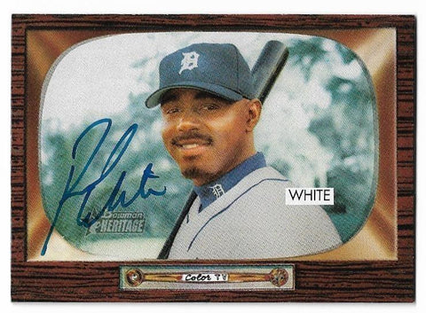 Rondell White Signed 2004 Bowman Heritage Baseball Card - Detroit Tigers