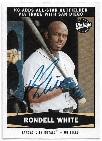 Rondell White Signed 2004 Upper Deck Vintage Baseball Card - Kansas City Royals