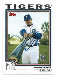 Rondell White Signed 2004 Topps Baseball Card - Detroit Tigers - PastPros