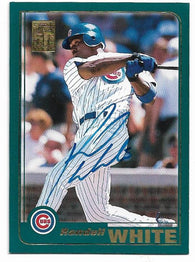 Rondell White Signed 2001 Topps Baseball Card - Chicago Cubs