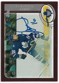 Darcy Tucker Signed 2002-03 Topps Hockey Card - Toronto Maple Leafs