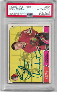 Stan Mikita Signed 1968 O-Pee-Chee Hockey Card - Chicago Black Hawks - PSA DNA Certified - PastPros