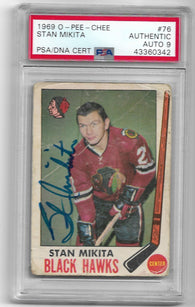 Stan Mikita Signed 1969 O-Pee-Chee Hockey Card - Chicago Black Hawks - PSA DNA Certified