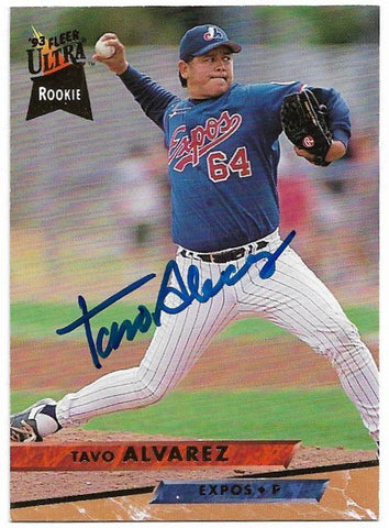 Tavo Alvarez Signed 1993 Fleer Ultra Baseball Card - Montreal Expos