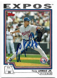 Tony Armas Jr Signed 2004 Topps Baseball Card - Montreal Expos