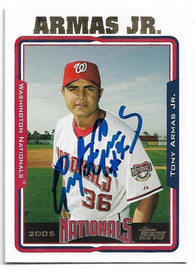 Tony Armas Jr Signed 2005 Topps Baseball Card - Washington Nationals