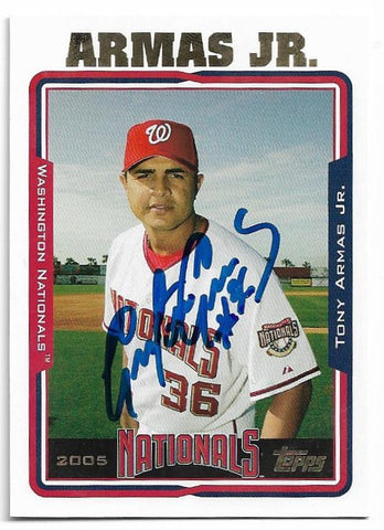 Tony Armas Jr Signed 2005 Topps Baseball Card - Washington Nationals - PastPros