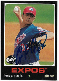 Tony Armas Signed 2002 Upper Deck Vintage Baseball Card - Montreal Expos - PastPros