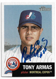 Tony Armas Signed 2002 Topps Heritage Baseball Card - Montreal Expos