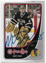 Marty Turco Signed 2010-11 O-Pee-Chee Hockey Card - Dallas Stars