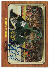 Marty Turco Signed 2002-03 Topps Heritage Hockey Card - Dallas Stars - PastPros