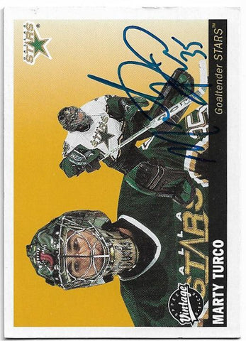Marty Turco Signed 2002-03 Upper Deck Vintage Hockey Card - Dallas Stars - PastPros