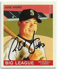 Jose Vidro Signed 2007 Upper Deck Goudey Baseball Card - Seattle Mariners