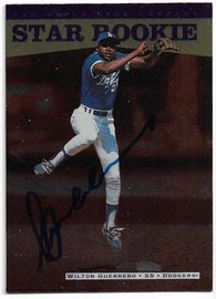 Wilton Guerrero Signed 1996 Upper Deck Baseball Card - Kansas City Royals