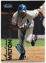 Wilton Guerrero Signed 1999 Fleer Tradition Baseball Card - Montreal Expos