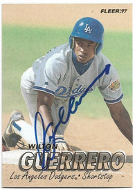 Wilton Guerrero Signed 1997 Fleer Baseball Card - Los Angeles Dodgers - PastPros