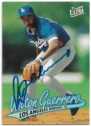 Wilton Guerrero Signed 1997 Fleer Ultra Baseball Card - Los Angeles Dodgers