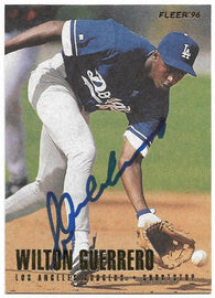 Wilton Guerrero Signed 1996 Fleer Baseball Card - Los Angeles Dodgers