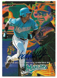 Matias Carrillo Signed 1995 Fleer Baseball Card - Florida Marlins - PastPros