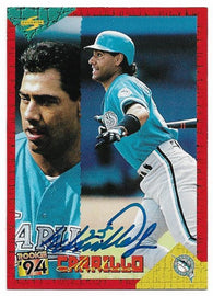 Matias Carrillo Signed 1994 Score Baseball Card - Florida Marlins