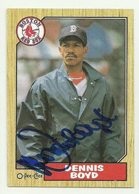 Dennis 'Oil Can' Boyd Signed 1987 O-Pee-Chee Baseball Card - Boston Red Sox - PastPros
