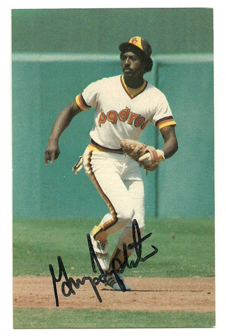 Garry Templeton Signed San Diego Padres Postcard - Team Issued - PastPros