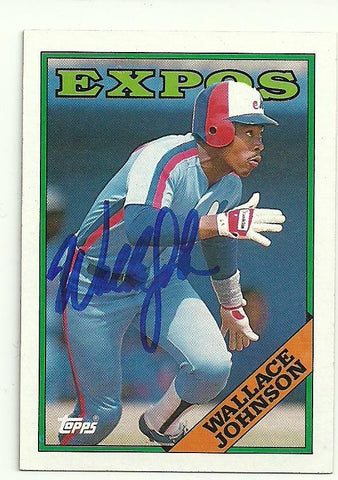 Wallace Johnson Signed 1988 Topps Baseball Card - Montreal Expos - PastPros