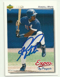 Rondell White Signed 1992 Upper Deck Top Prospect Baseball Card - Montreal Expos