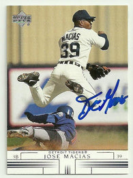 Jose Macias Signed 2002 Upper Deck Baseball Card - Detroit Tigers - PastPros