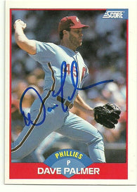 Dave Palmer Signed 1989 Score Baseball Card - Atlanta Braves