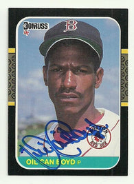 Dennis 'Oil Can' Boyd Signed 1987 Donruss Baseball Card - Boston Red Sox - PastPros