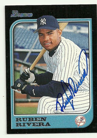 Ruben Rivera Signed 1997 Bowman Baseball Card - New York Yankees