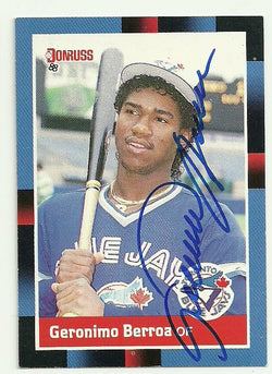 Geronimo Berroa Signed 1988 Donruss Baseball Card - Toronto Blue Jays