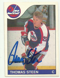 Thomas Steen Signed 1985-86 O-Pee-Chee Hockey Card - Winnipeg Jets