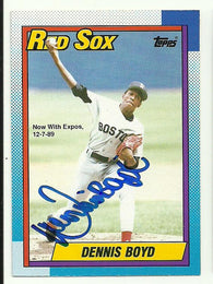 Dennis 'Oil Can' Boyd Signed 1990 O-Pee-Chee Baseball Card - Boston Red Sox - PastPros