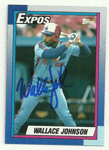 Wallace Johnson Signed 1990 Topps Baseball Card - Montreal Expos